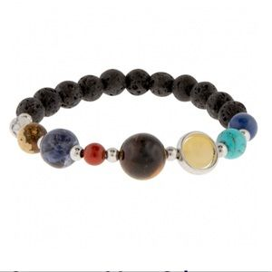 Gemstone & Lava Solar System Bracelet Healing